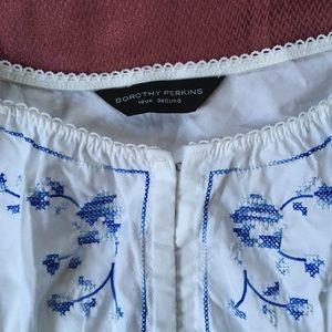 Dorothy Perkins Embroidered Summer Dress UK10 US 6